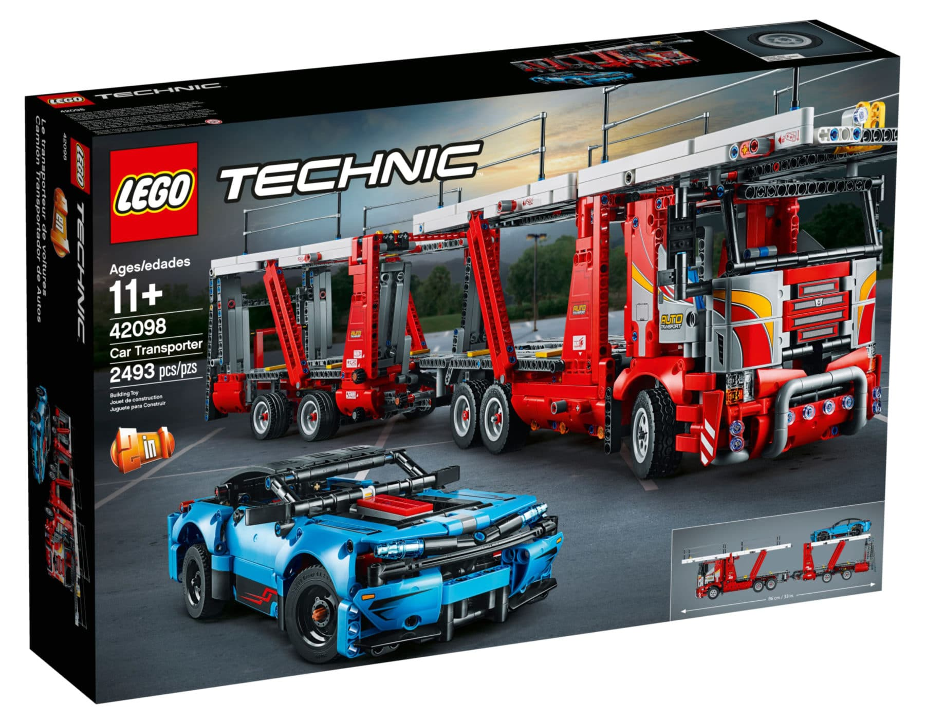 LEGO Technic 42098 Autotransporter Box