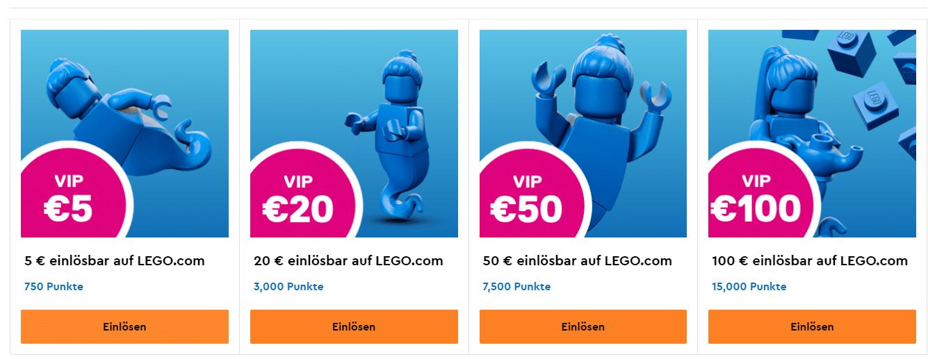 LEGO VIP-Punkte einlösen