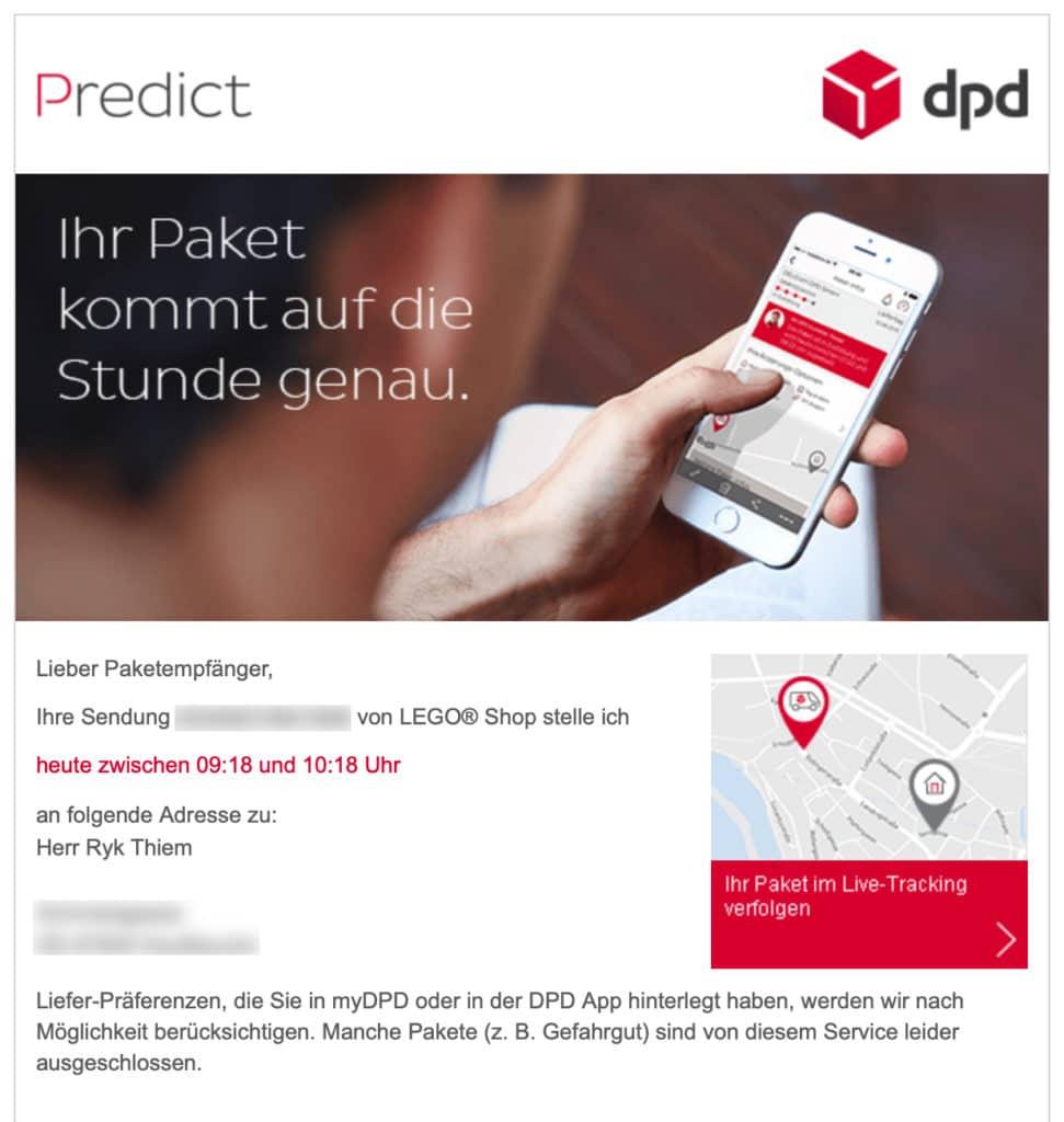DPD Sendungsankündigung