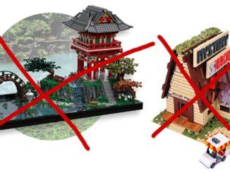 LEGO Ideas Vorschläge abgelehnt: Japanischer Teegarten und Mystery Shack