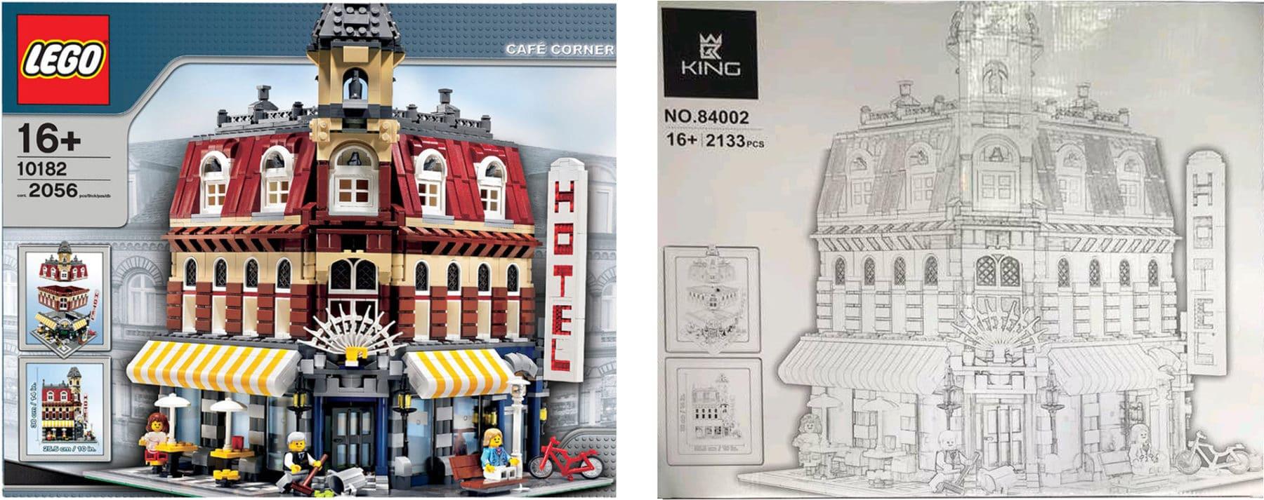 LEGO Karton vs. King Bricks Fälschung