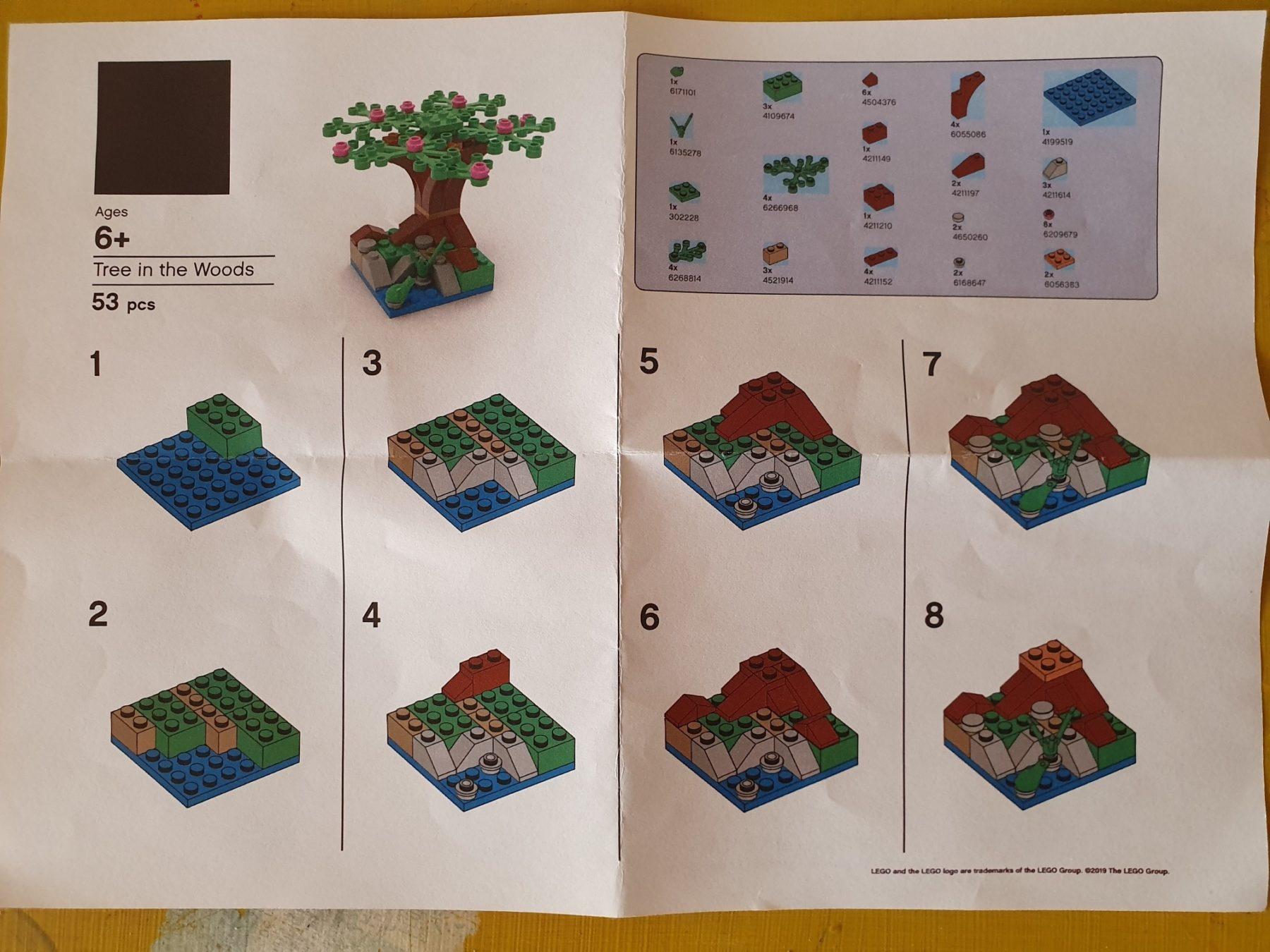 LEGO Store Event Baum Anleitung