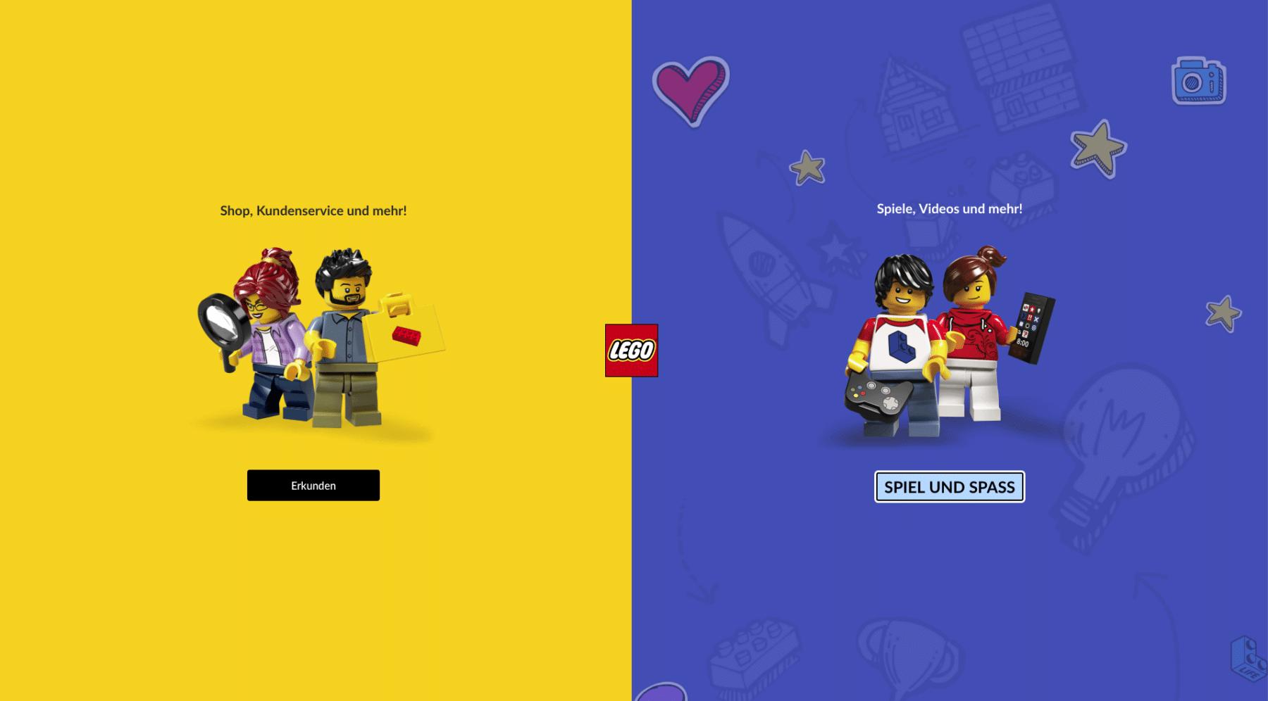 LEGO Online Shop Umstellung