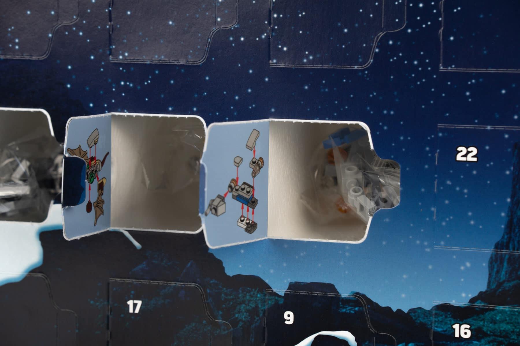 LEGO Star Wars 75245 Adventskalender geöffnet