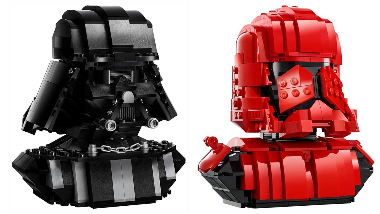 LEGO Star Wars Büsten von Darth Vader und Sith Trooper