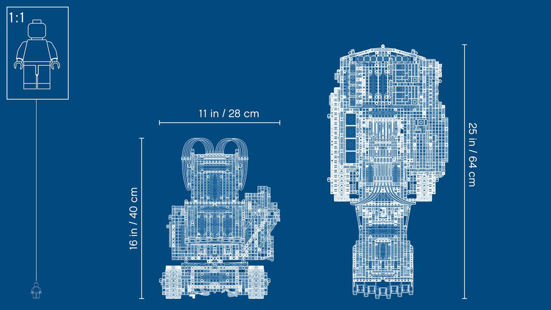 LEGO Technic 42100 Liebherr R9800 Excavator Blueprint