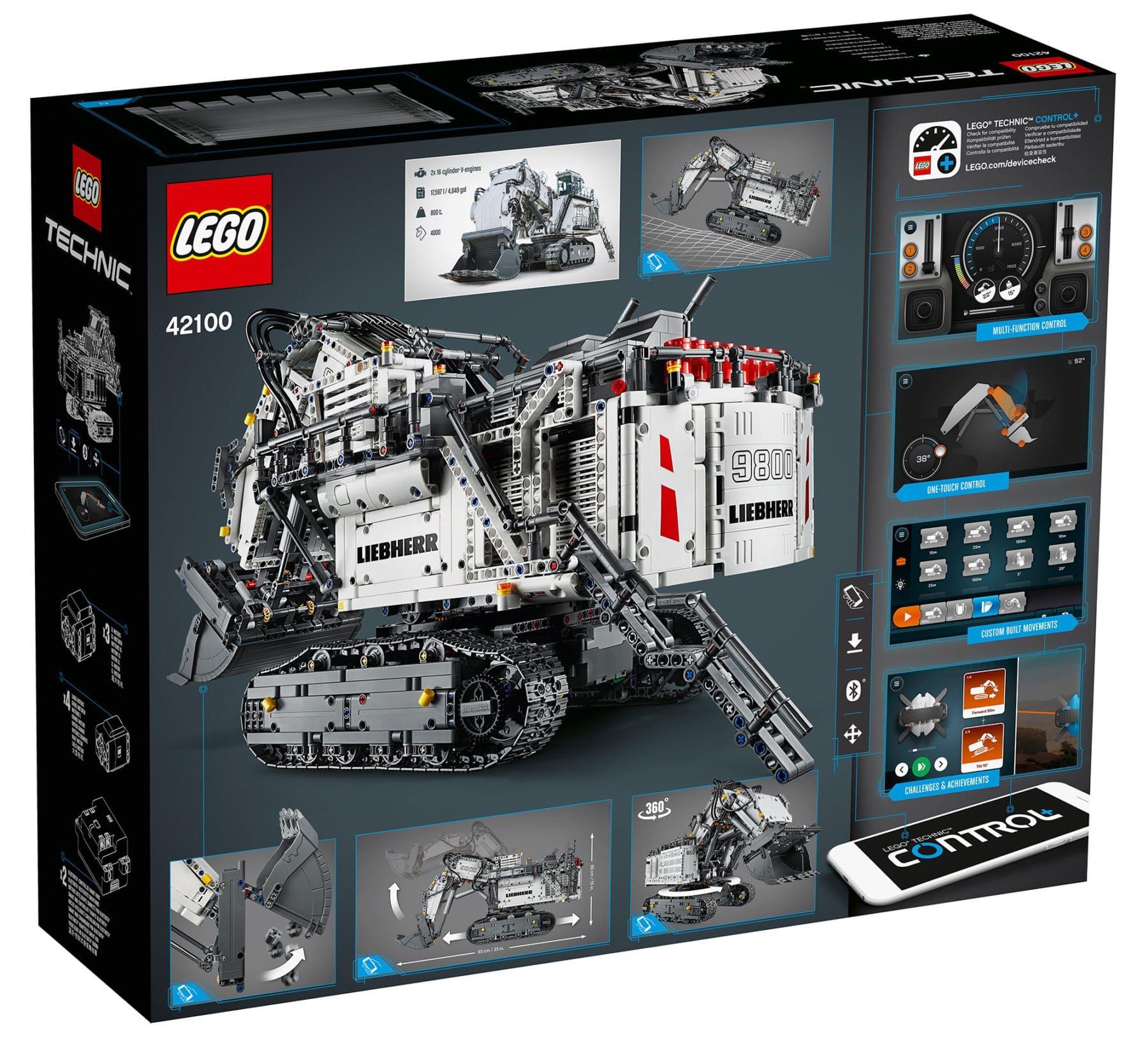 LEGO Technic 42100 Liebherr R9800 Excavator Box Hinten