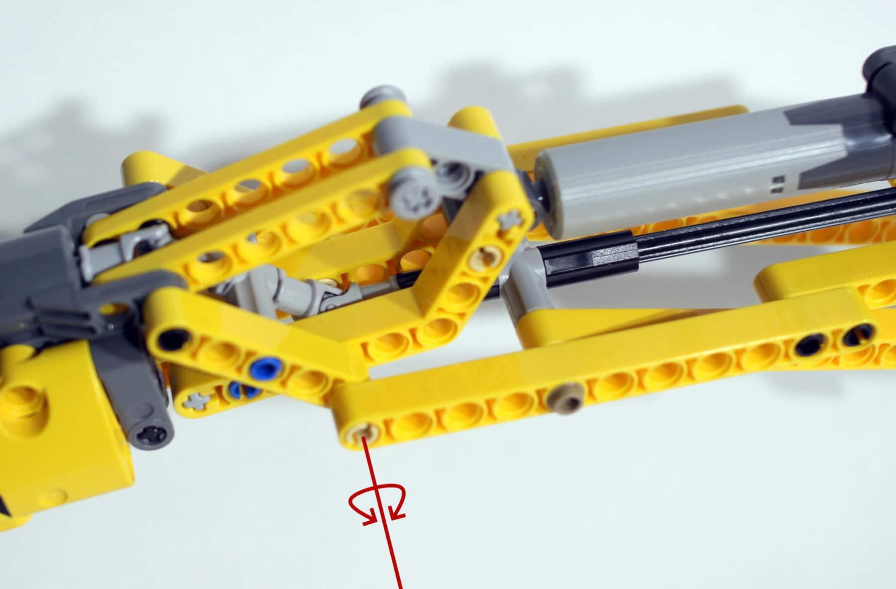 LEGO Technik 8043: Kraftübertragung am Ausleger