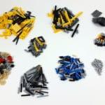 LEGO 8043 B-Modell: Übrig gebliebene Teile