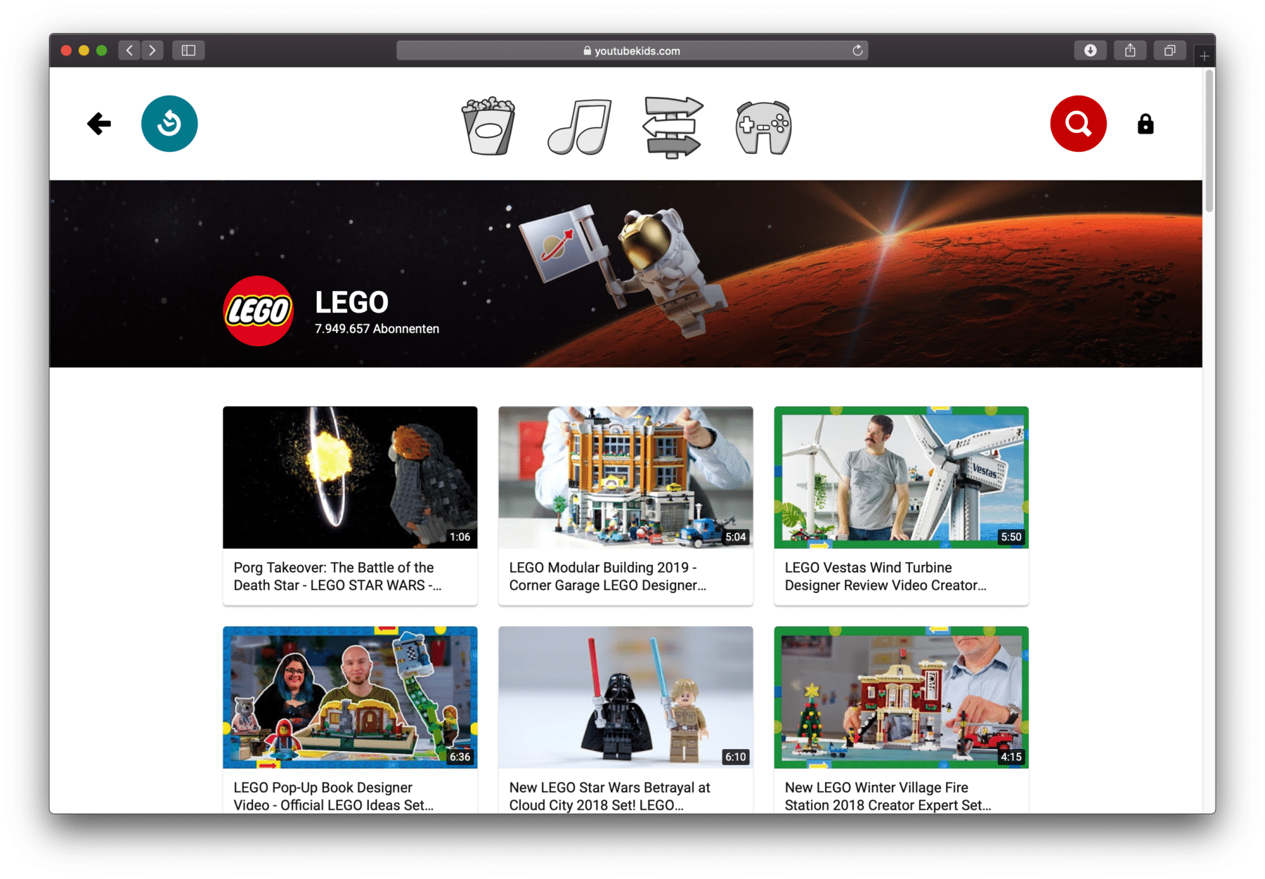 YouTube Kids LEGO
