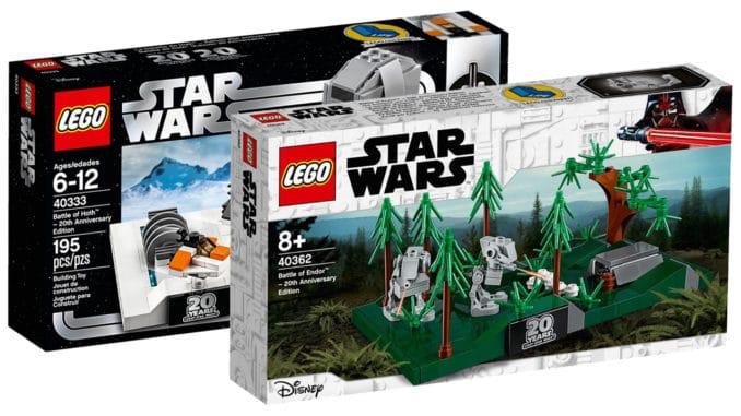LEGO Star Wars 40333 und 40362 Dioramen