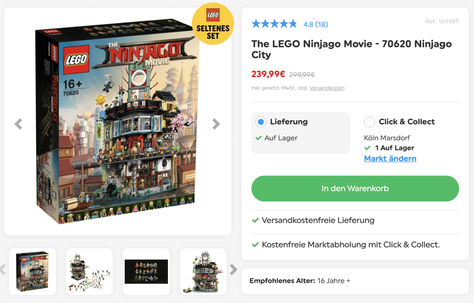 LEOG 70620 Ninjago City Angebot