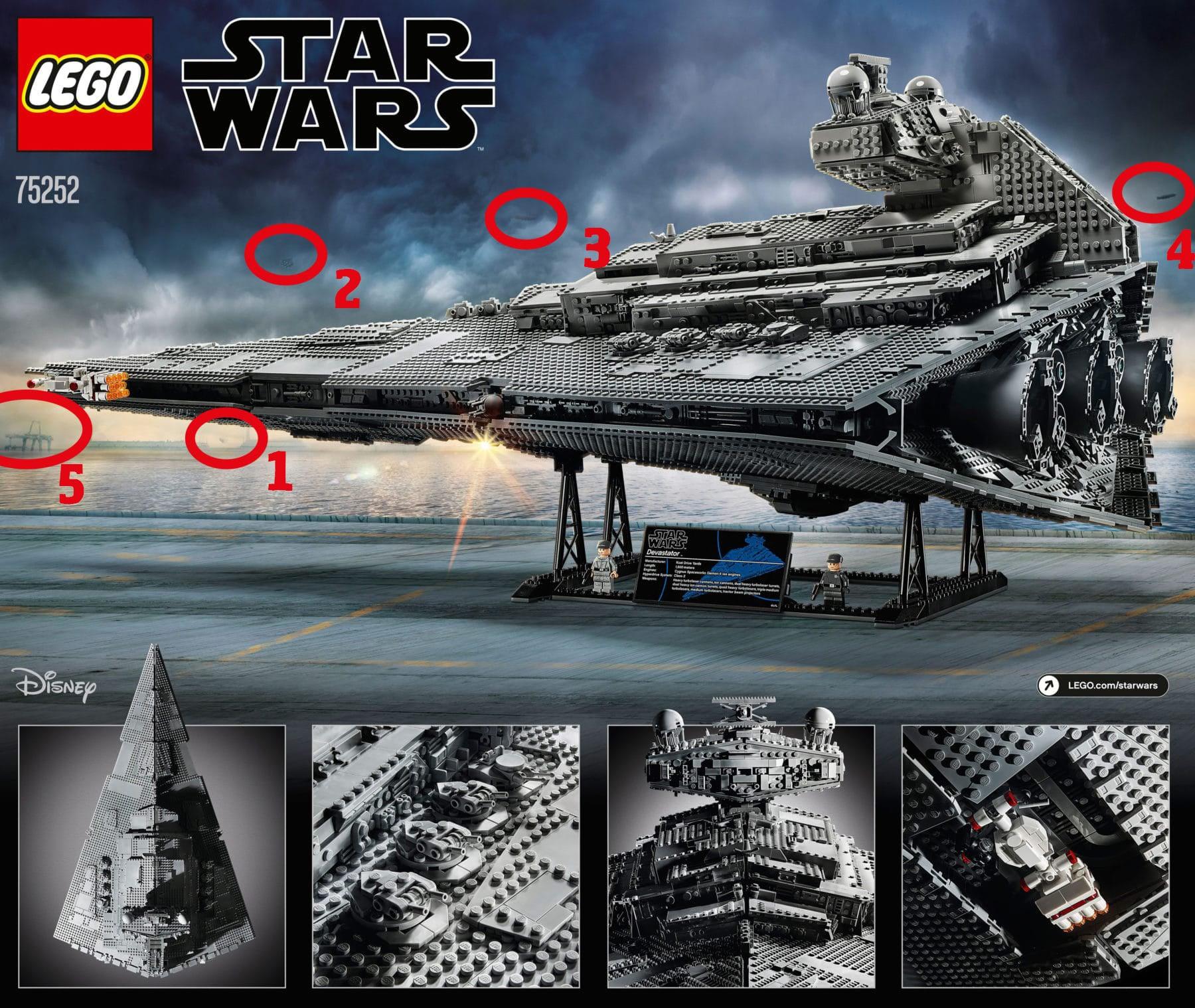 Die Rückseite des LEGO 75252 Kartons: Hinweise auf das nächste UCS Set?
