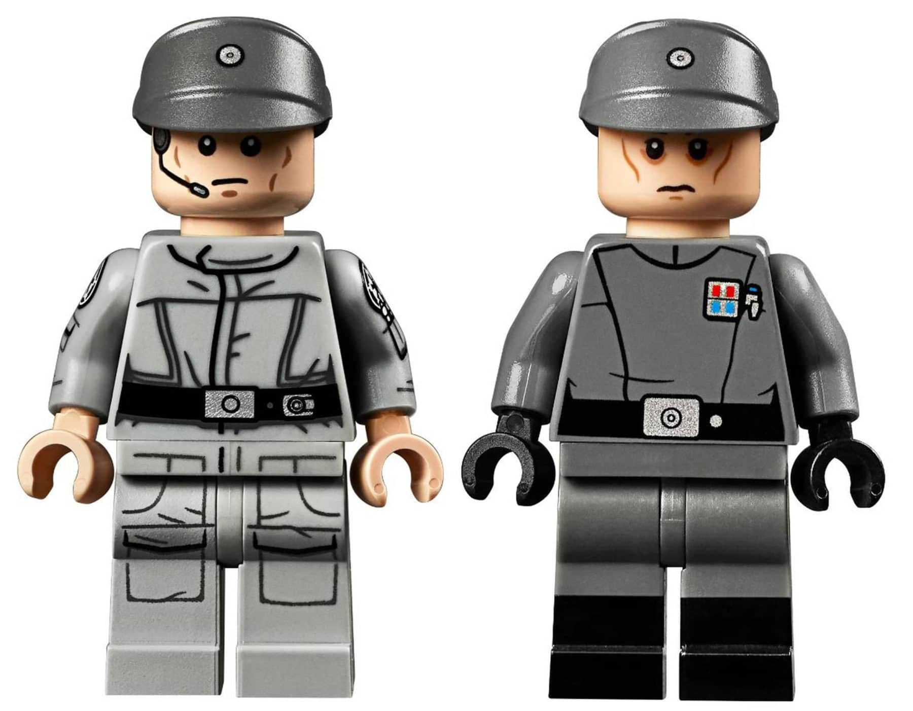 LEGO 75252 Minifiguren: Imperial Commander (links) und Imperial Officer (rechts)