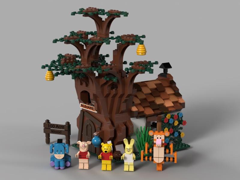LEGO Ideas Entwurf Winnie The Pooh