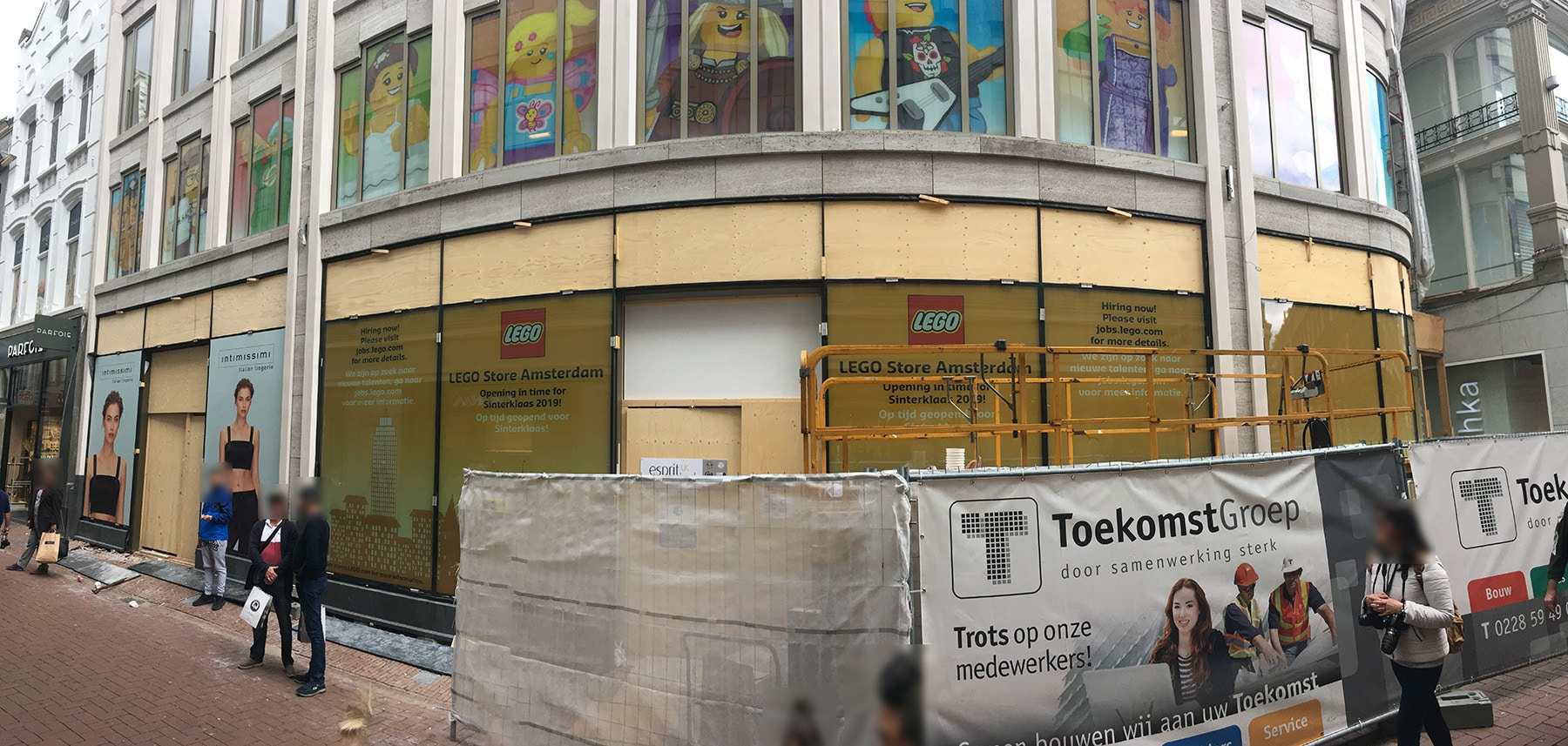 LEGO Flagship Store Amsterdam Baustelle