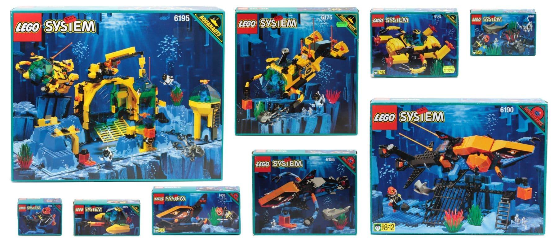 Verpackungen der im Katalog beworbenen Sets