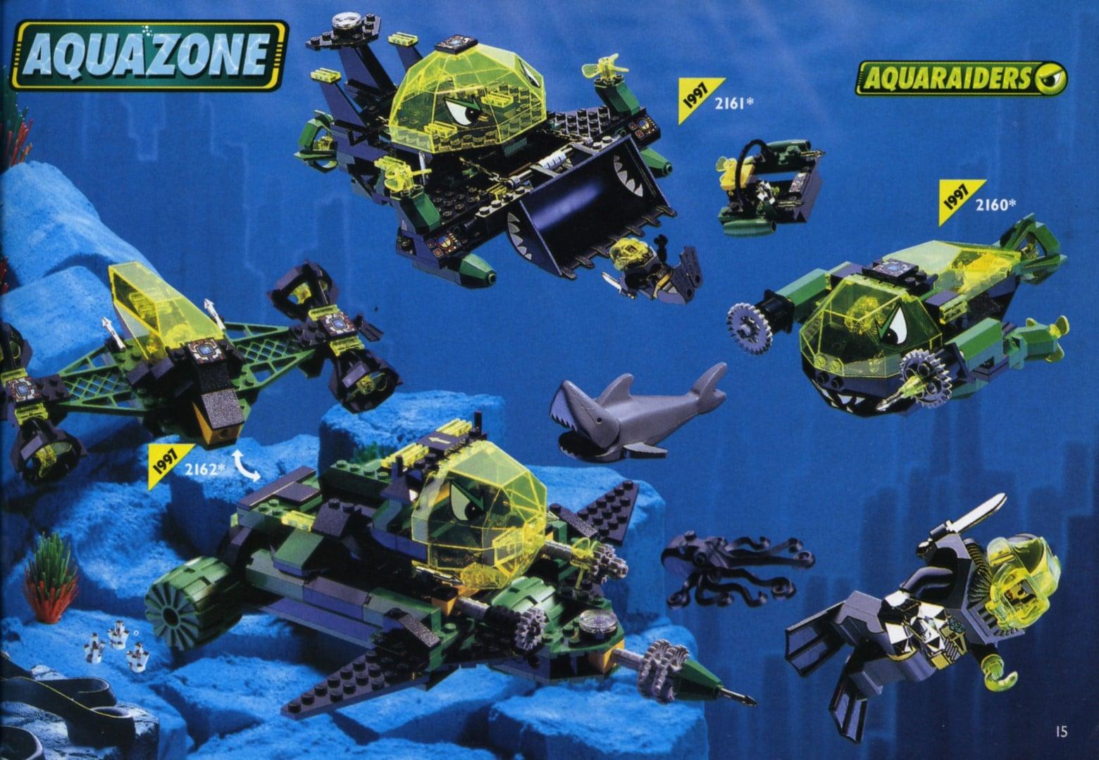 Aquaraiders im US Katalog von 1997 (Quelle: Brickset)