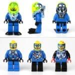 Die Hydronauts-Minifiguren hatten alle unterschiedliche Torsos und teilweise sogar unterschiedliche Beine