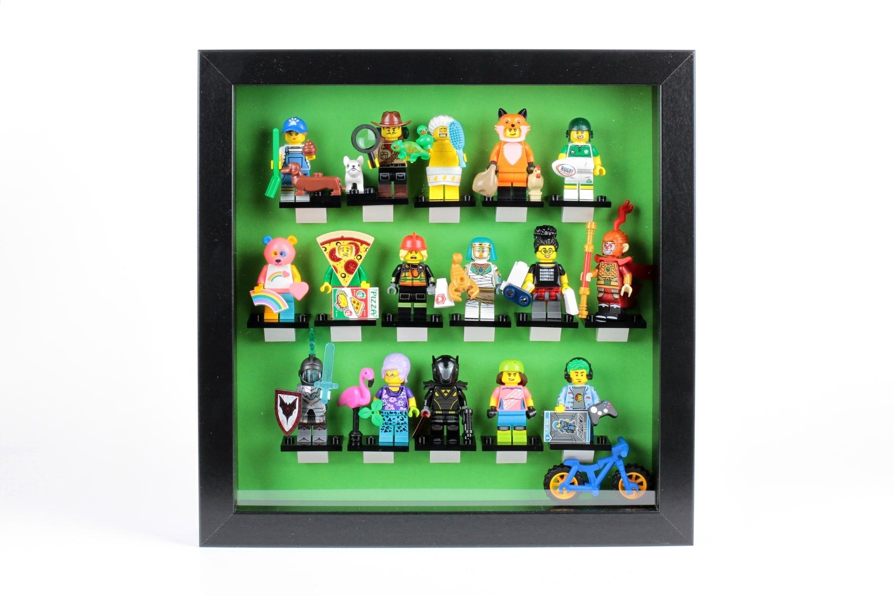 Auch Minifiguren müssen manchmal enger zusammenrücken: Serie 19 im RIBBA Rahmen