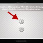 CONTROL+ App: Bluetooth aktivieren (Schnritt 1)