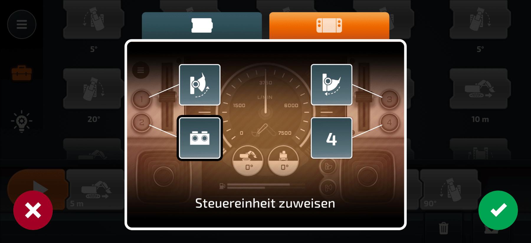 CONTROL+ App: Sequenz einem Knopf zuweisen