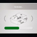 CONTROL+ App: Verbindung zum unteren Hub wird hergestellt