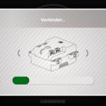CONTROL+ App: Verbindung zum Hub wird hergestellt