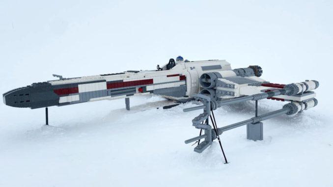 LEGO Star Wars X-Wing auf dem Jungfraujoch