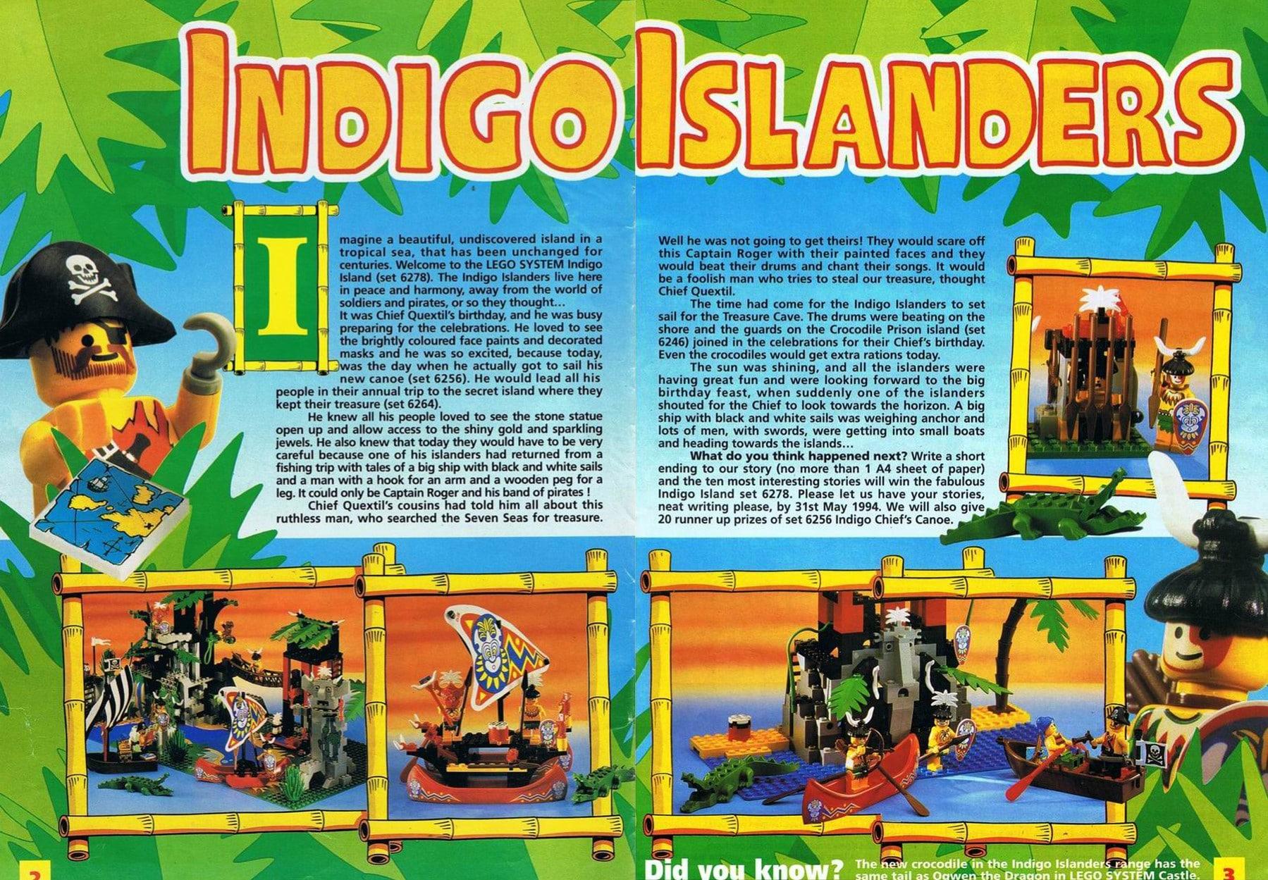 Die Hintergrundgeschichte der Insulaner im Bricks'n'Pieces-Magazin 1/1994