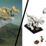 Bei den Dinos hat IDEAS im wahrsten Sinne des Wortes ist hier kein Stein auf den anderen gelassen: Sämtliche Farben wurden geändert, von den fünf Dinos blieben lediglich drei übrig und nur ein vorgeschlagener Dino hat es in das offizielle Set geschafft. LEGO hat vier Dinoarten aussortiert und dafür zwei neue hinzugefügt