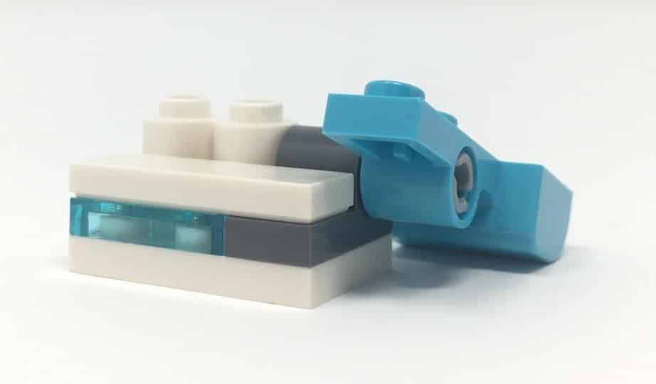 Winkel fest ohne Seitenteil LEGO ERSATZSTEINE 4 Stk schwarz