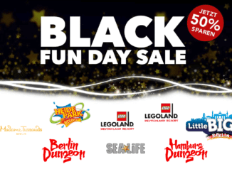 Merlin Black Fun Day Sale Banner