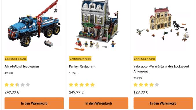 Einstellung in Kürze LEGO Online Shop