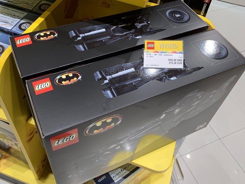 Preisschild des LEGO 76139 Batmobil 1989