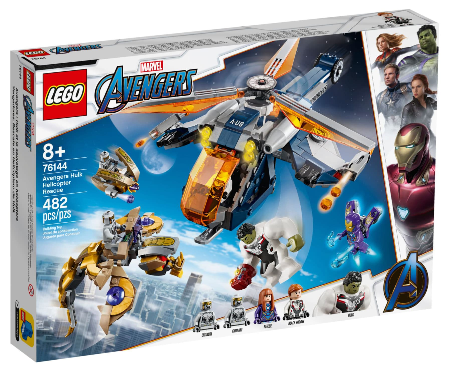 LEGO Marvel 76144 Avengers Hulk Helicopter Rescue Box