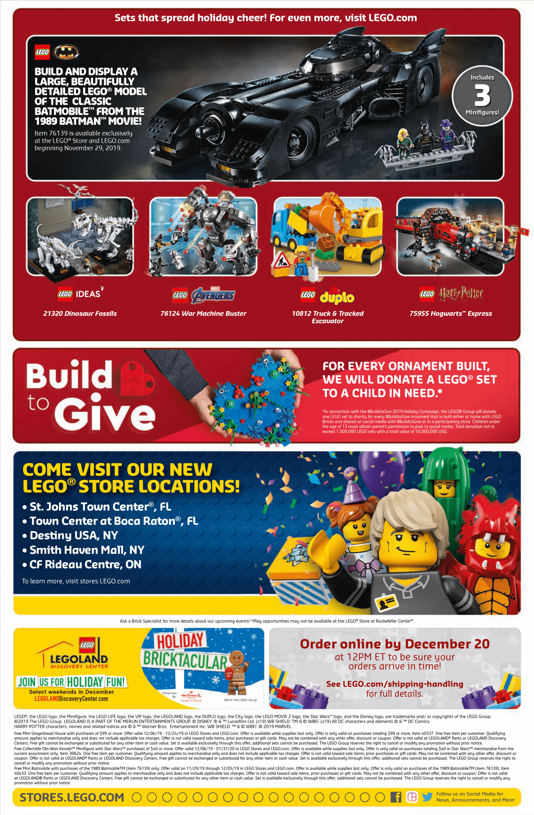 LEGO Store Flyer USA Dezember 2019