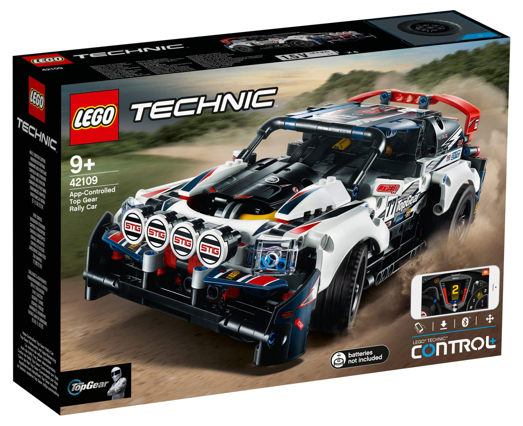 LEGO Technic 42109 Top Gear Rally Car Box