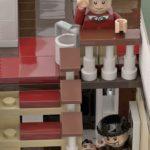 LEGO Ideas Home Alone Entwurf Treppenhaus