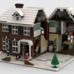 LEGO Ideas Home Alone Entwurf Ansicht rechts aufgeklappt