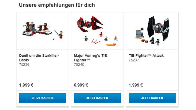 LEGO Preisfehler im Newsletter