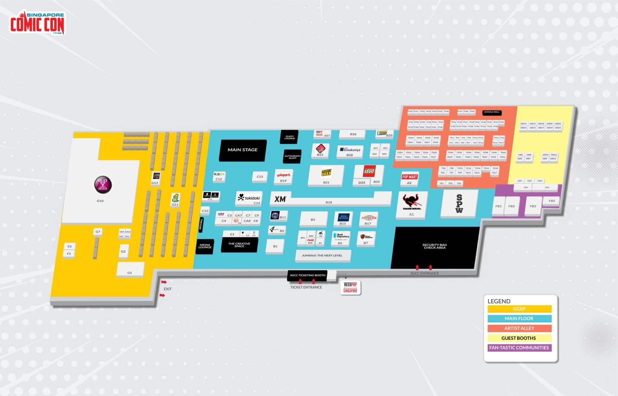 Singapore Comic Con 2019 Floorplan