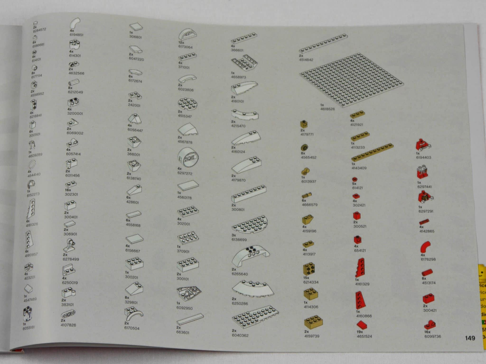 LEGO 4002019 Teileliste S149