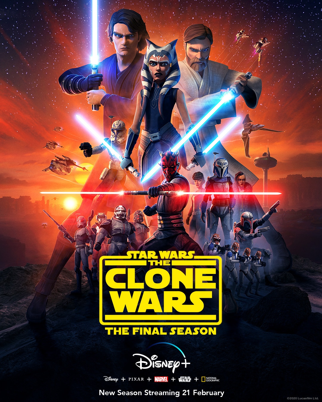 Star Wars: The Clone Wars: Letzte Staffel Poster