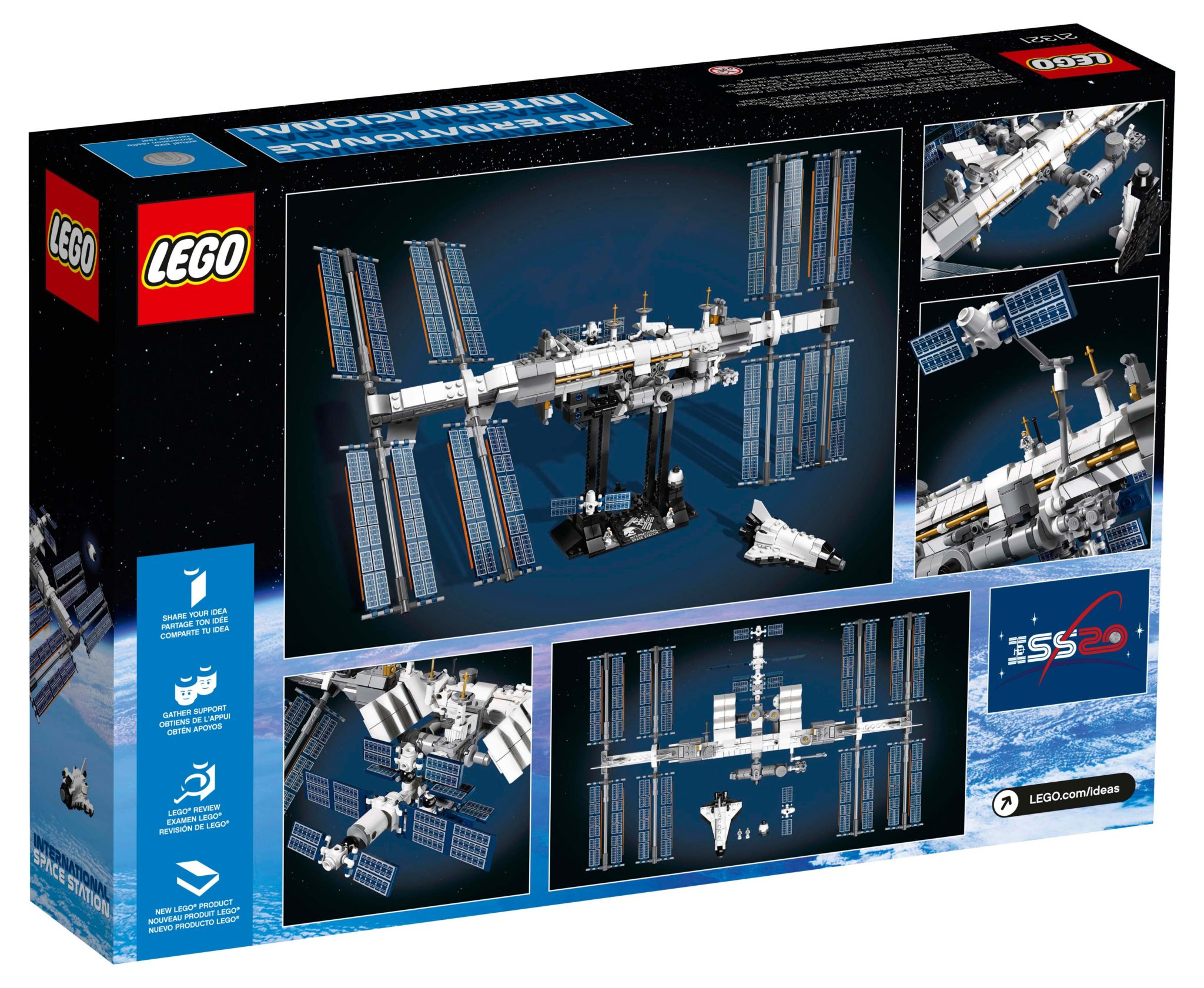 LEGO Ideas 21321 International Space Station Box Rückseite