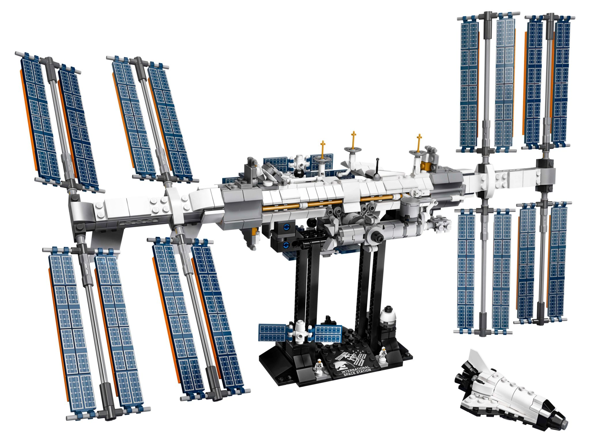 LEGO Ideas 21321 International Space Station auf dem Ständer