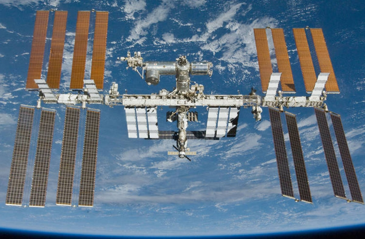International Space Station vor der Erde