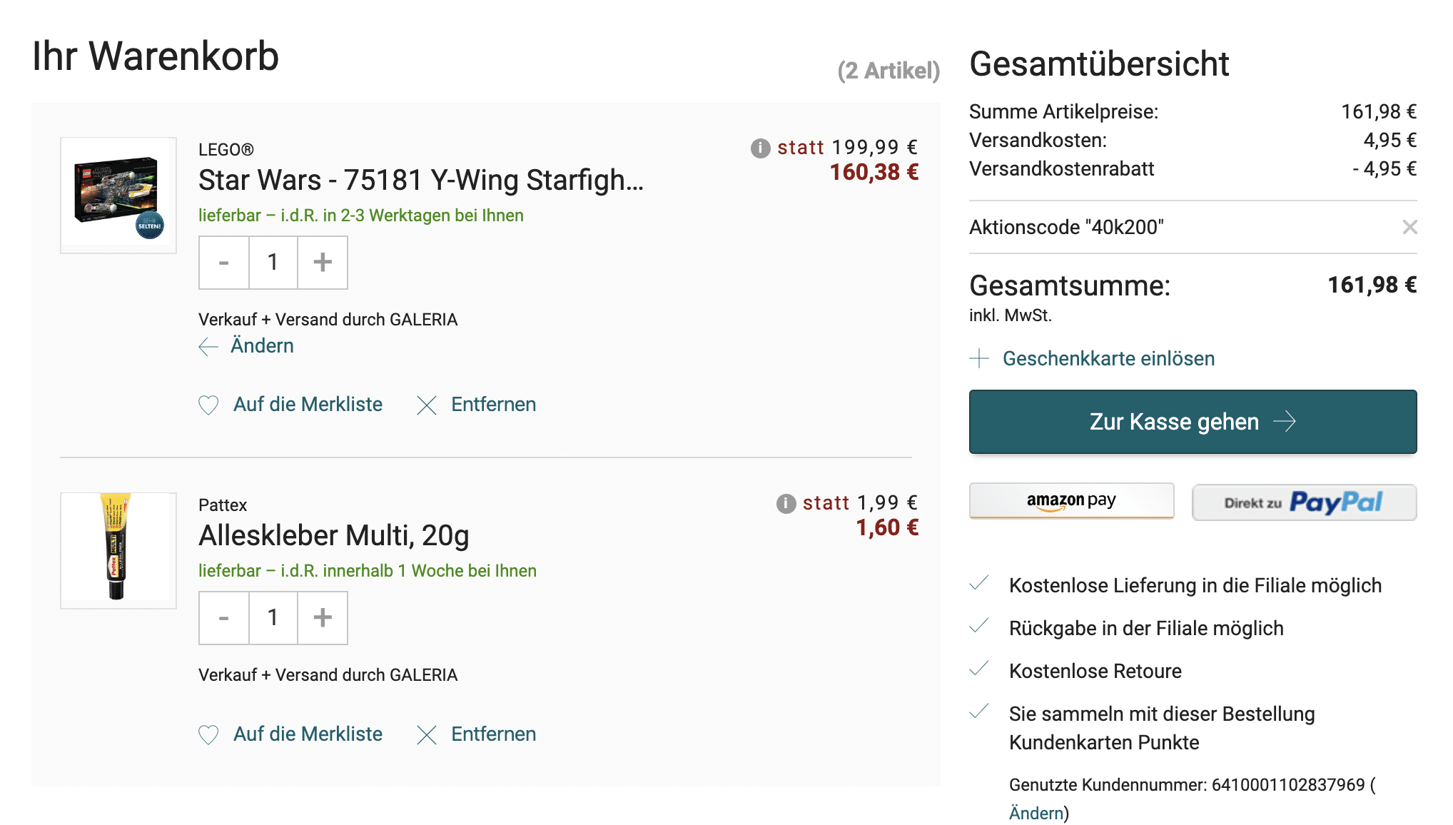 LEGO 75181 Angebot Screenshot