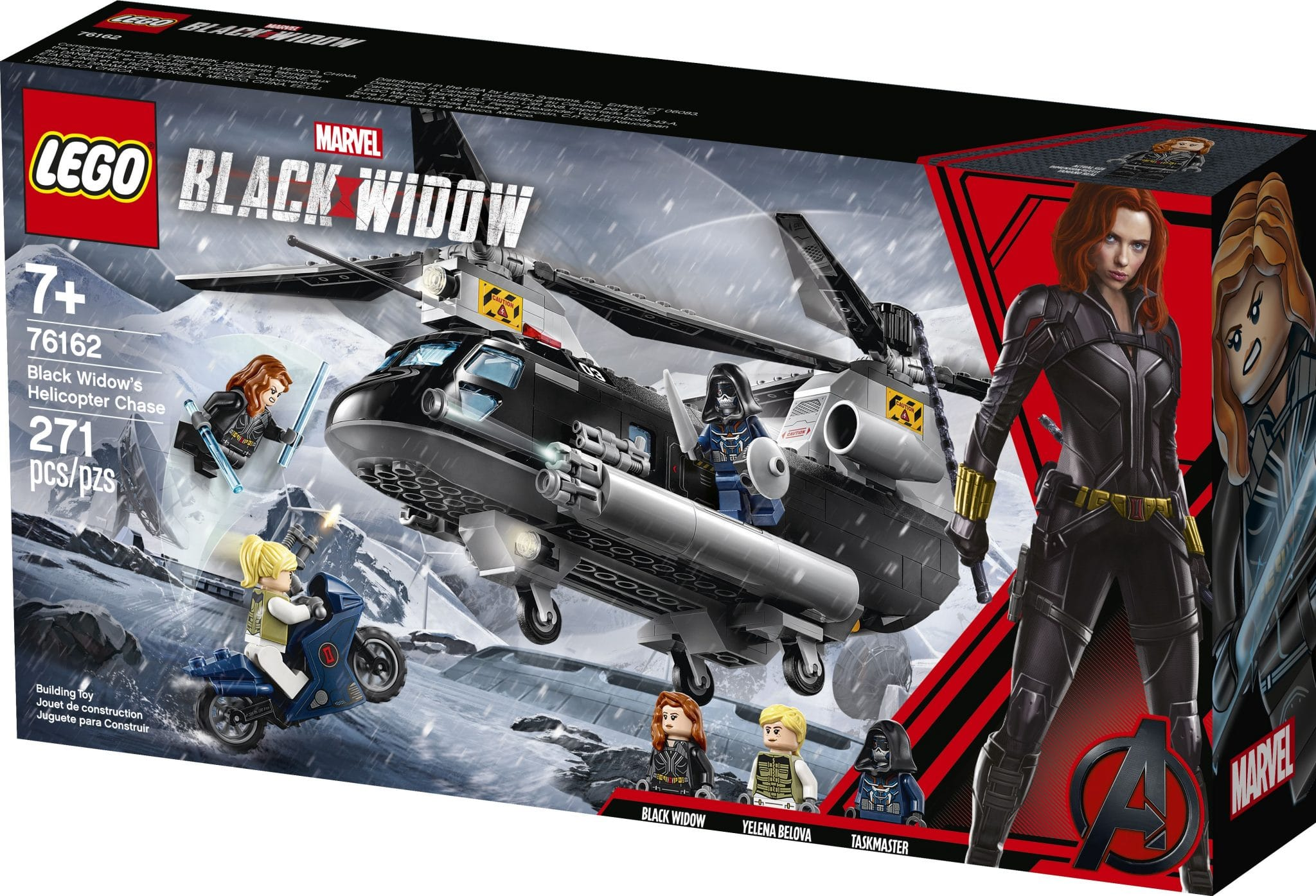LEGO 76162 Black Widow's Helicopter Chase