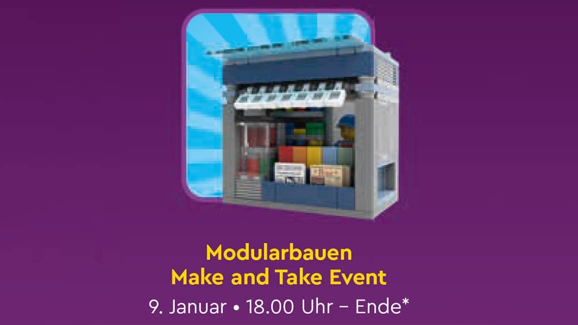 LEGO Zeitungskiosk Make & Take Event für Erwachsene